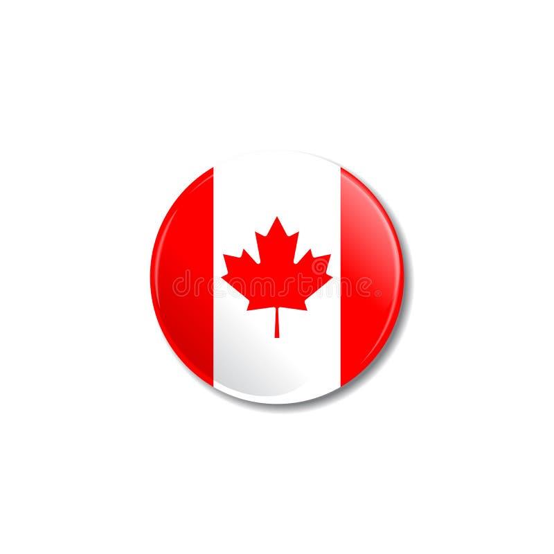 Insigne avec le drapeau canadien Illustration de vecteur illustration libre de droits
