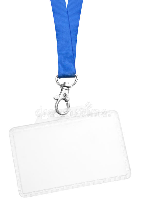 Insigne blanc d'identification photo libre de droits