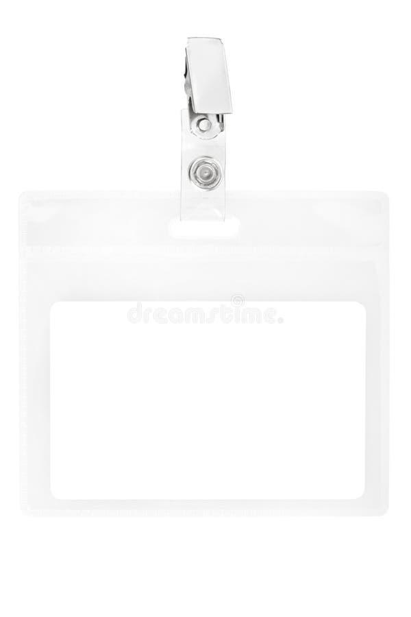 Insigne blanc ou passage d'identification photos libres de droits
