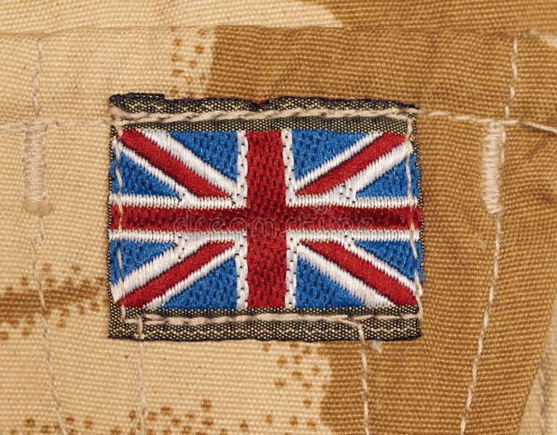 Insigne Britannique D Armée Sur Le Camouflage De Désert Photographie stock