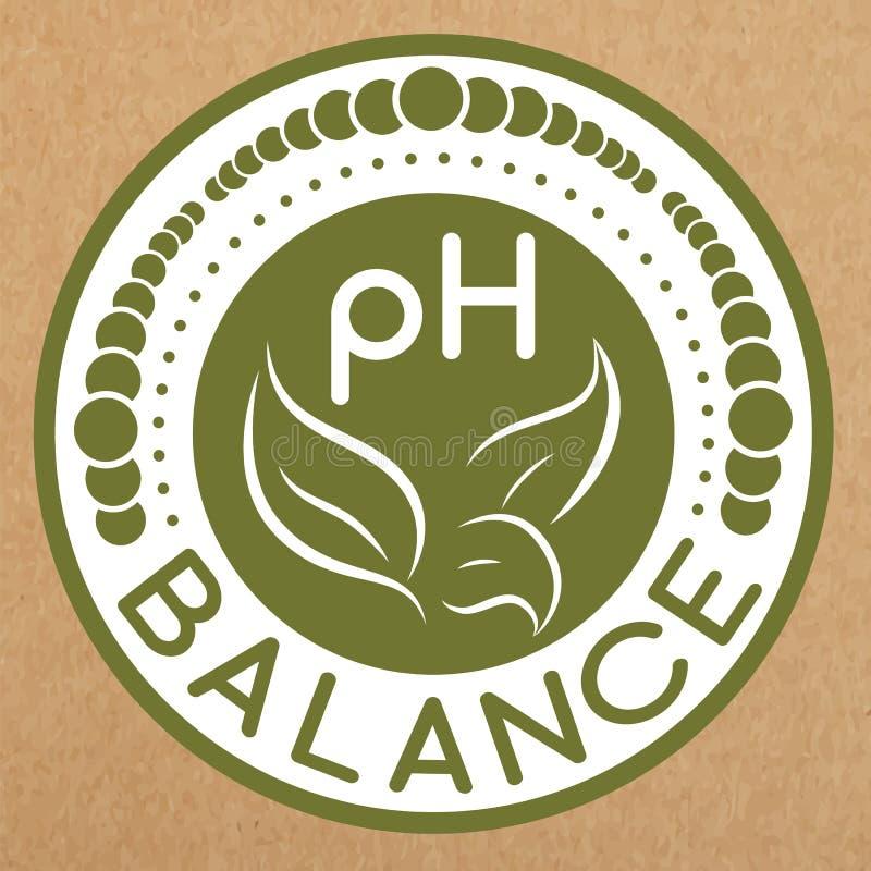Insigne d'équilibre de pH, icône, disposition d'autocollant illustration libre de droits