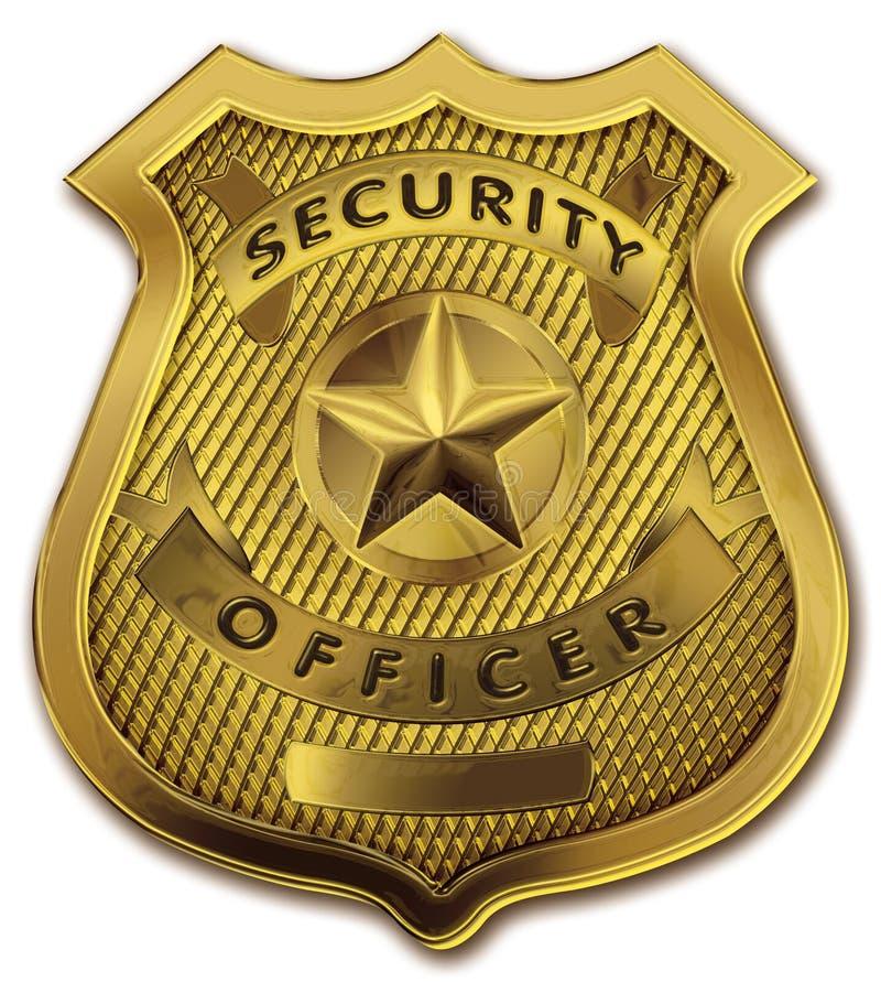 Insigne d'officier de garde de sécurité illustration stock