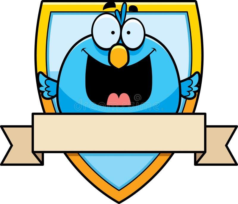 Insigne d'oiseau de bande dessinée illustration de vecteur