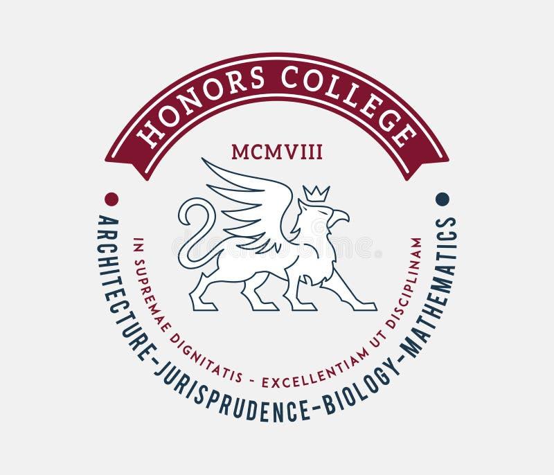 Insigne d'université d'honneurs illustration libre de droits