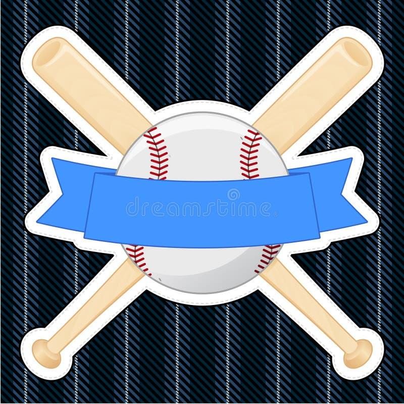Insigne de base-ball illustration stock