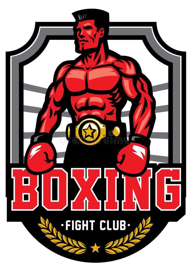 Insigne de boxe de championnat illustration de vecteur