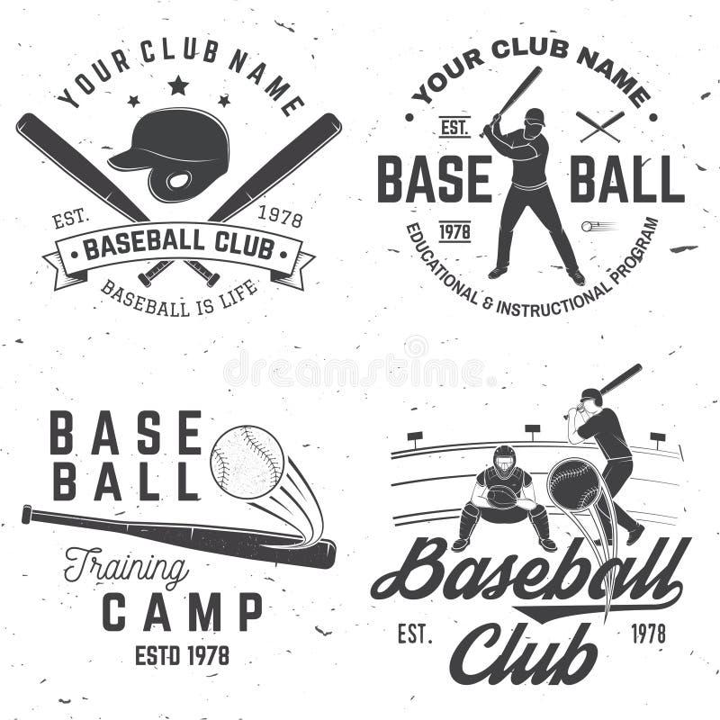 Insigne de club de base-ball Illustration de vecteur Concept pour la chemise ou le logo, la copie, le timbre ou la pièce en t illustration de vecteur