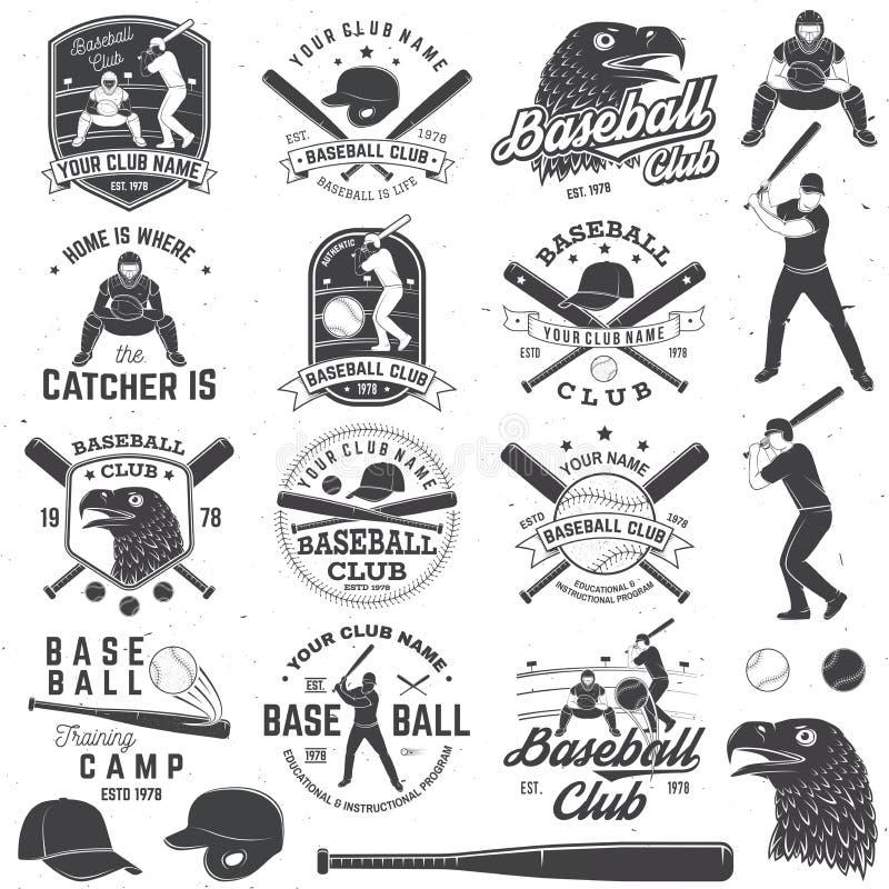 Insigne de club de base-ball Illustration de vecteur Concept pour la chemise ou le logo, la copie, le timbre ou la pièce en t illustration libre de droits