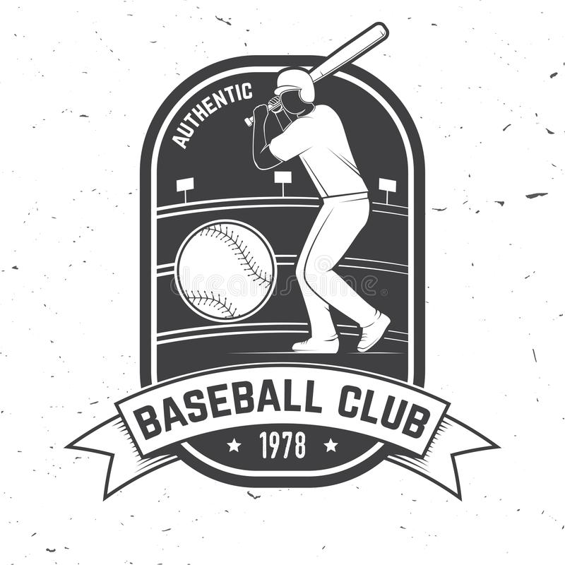 Insigne de club de base-ball ou de base-ball Illustration de vecteur Concept pour la chemise ou le logo, la copie, le timbre ou l illustration de vecteur
