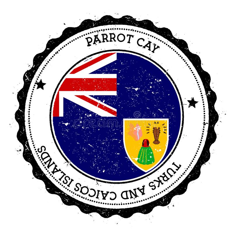 Insigne de drapeau de banc de sable de perroquet illustration libre de droits