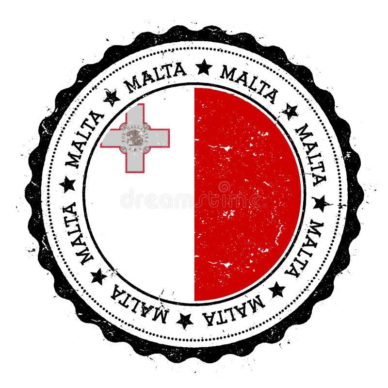 Insigne de drapeau de Malte illustration stock