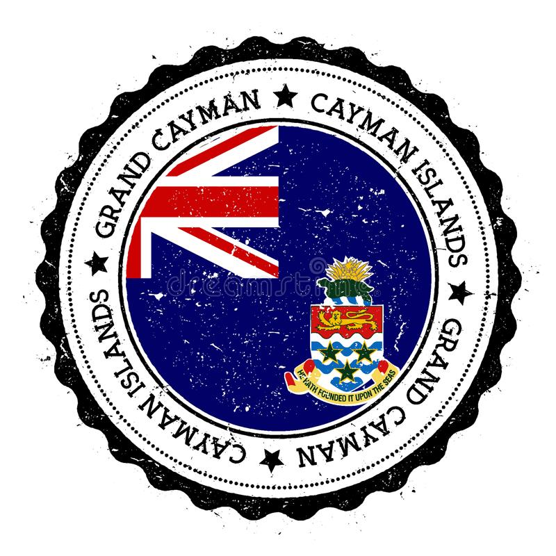 Insigne de drapeau de Grand Cayman illustration stock