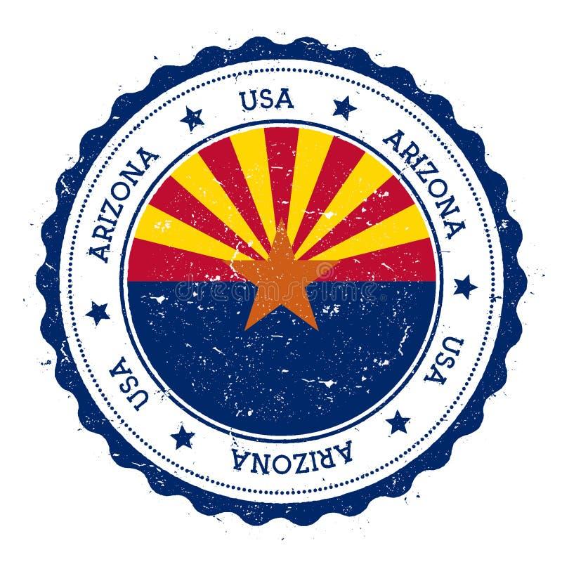 Insigne de drapeau de l'Arizona illustration de vecteur