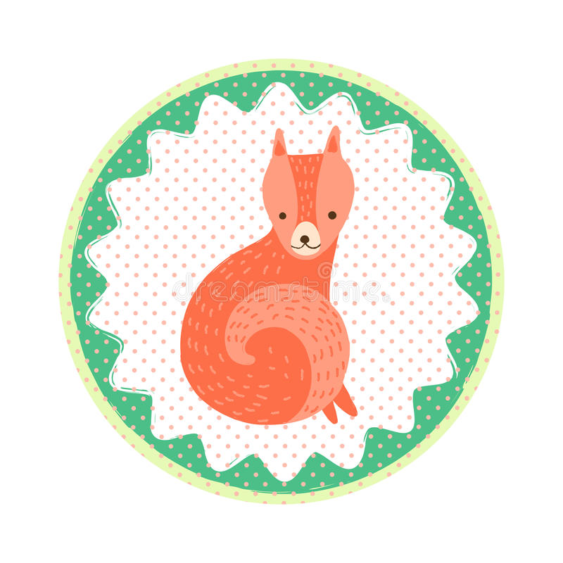 Insigne de Fox illustration stock
