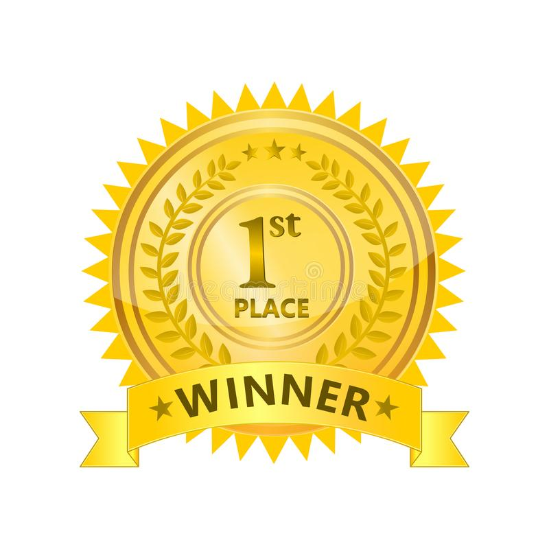 Insigne de gagnant illustration de vecteur