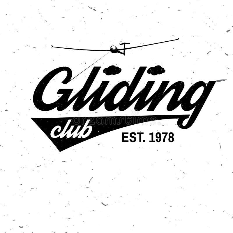 Insigne de glissement de club de vecteur rétro illustration de vecteur