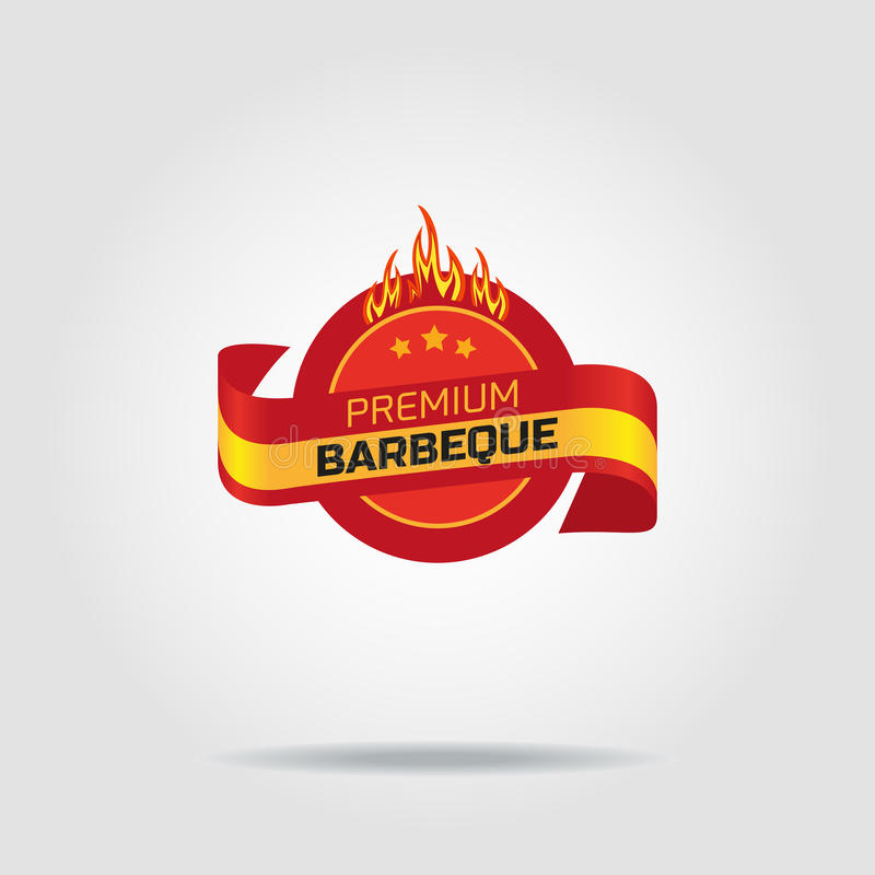 Insigne de gril de BBQ illustration libre de droits