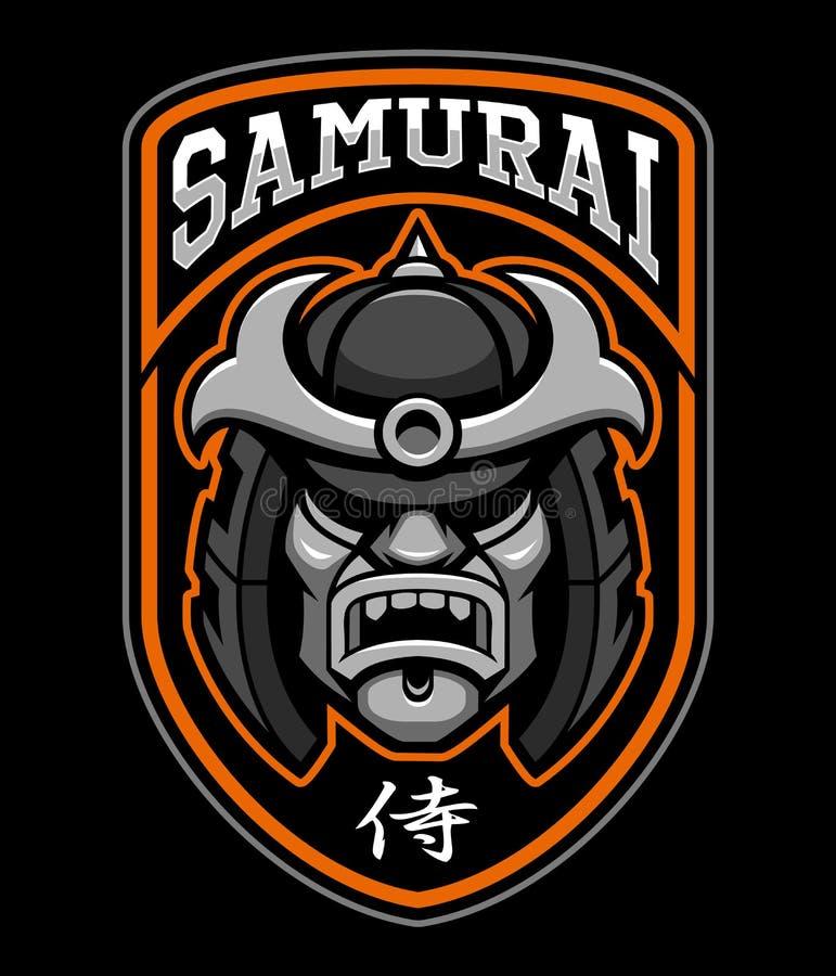 Insigne de guerrier samouraï illustration libre de droits
