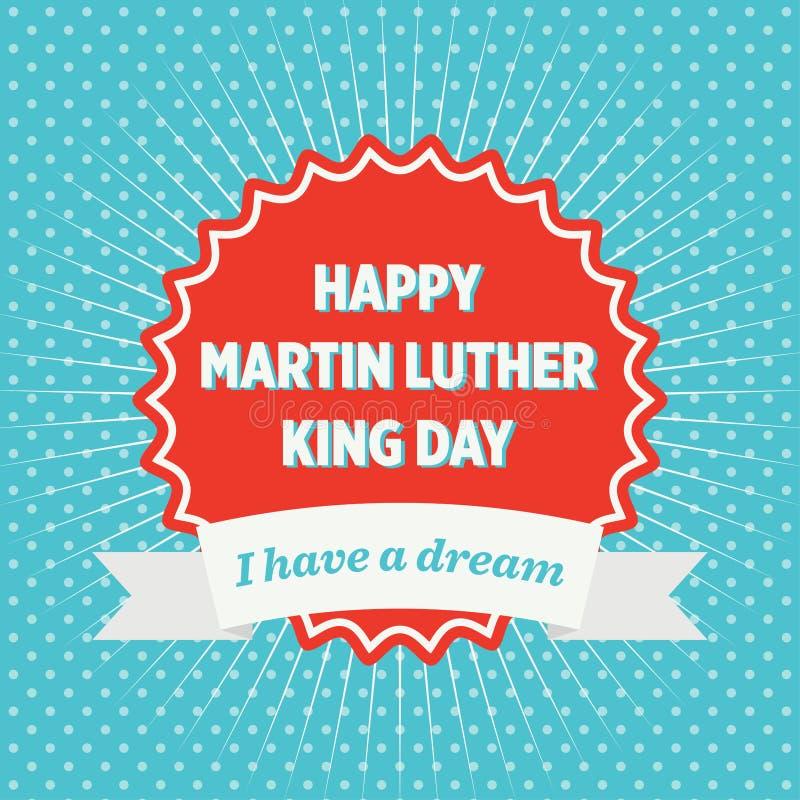 Insigne de jour de Martin Luther King illustration de vecteur