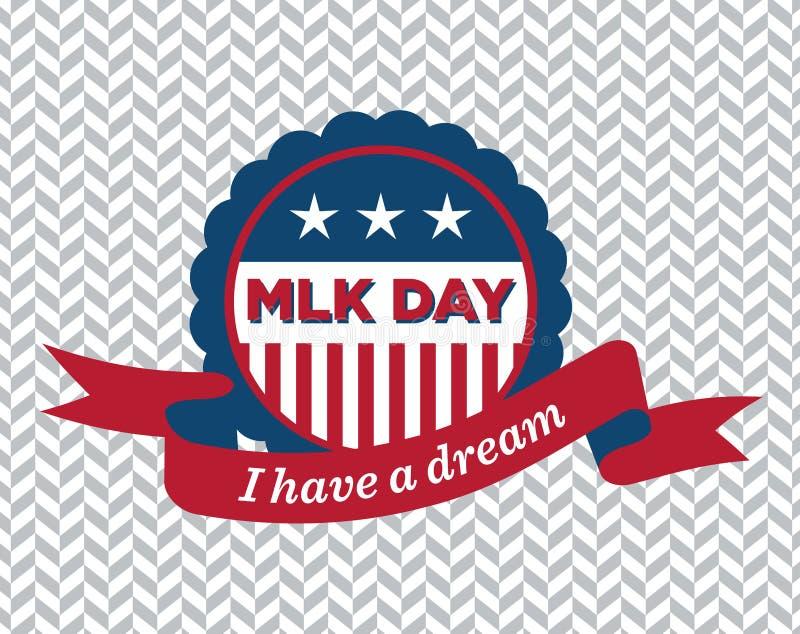 Insigne de jour de MLK illustration libre de droits