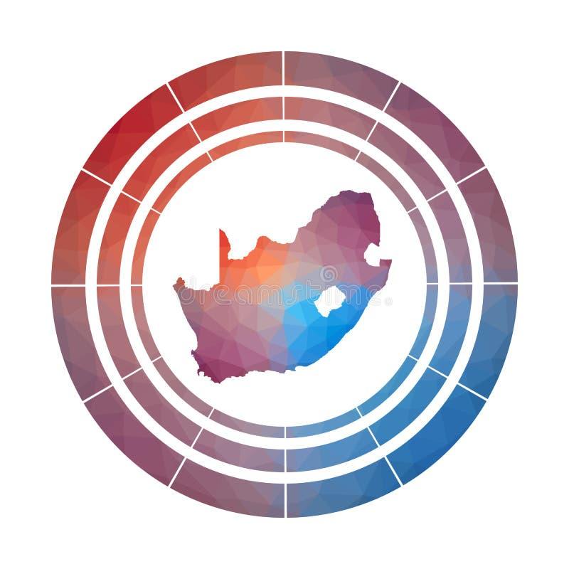 Insigne de l'Afrique du Sud illustration de vecteur