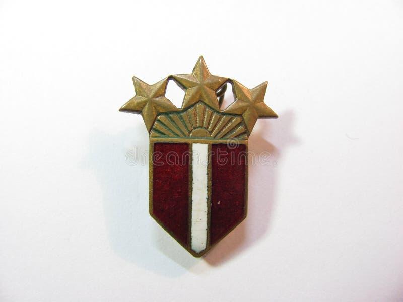 Insigne de la Lettonie Litva Estonie image libre de droits