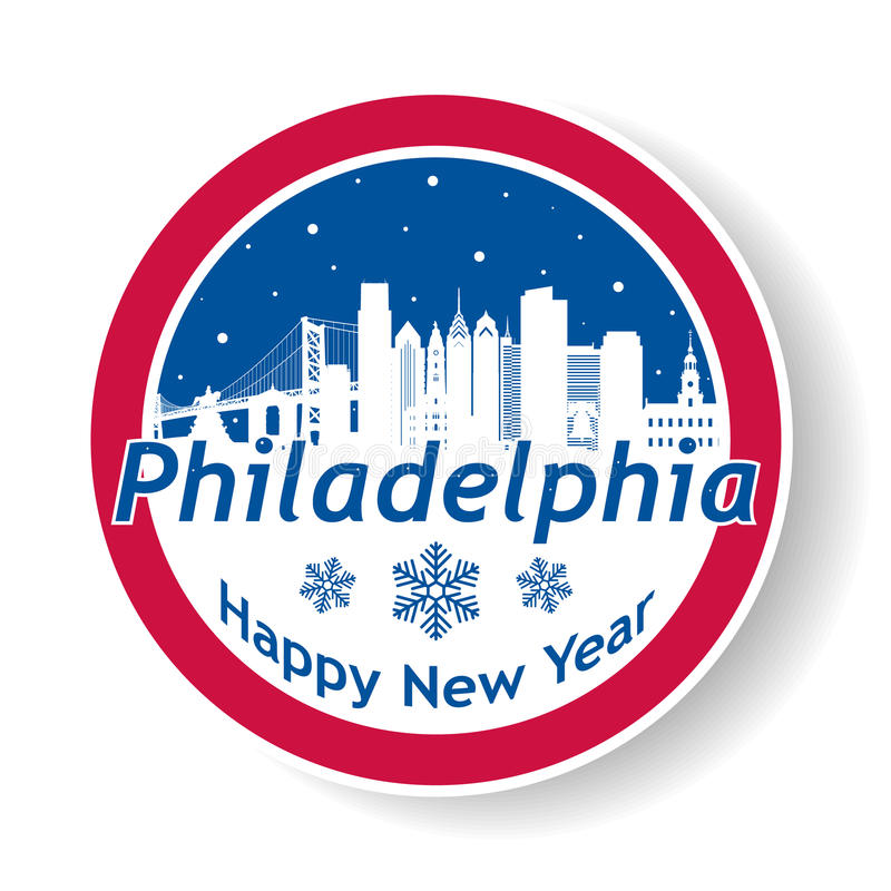 Insigne de Philadelphie d'hiver illustration stock