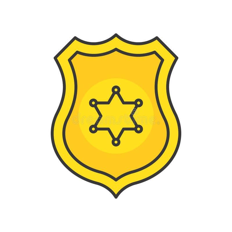 Insigne de police, course editable d'icône relative de police illustration libre de droits