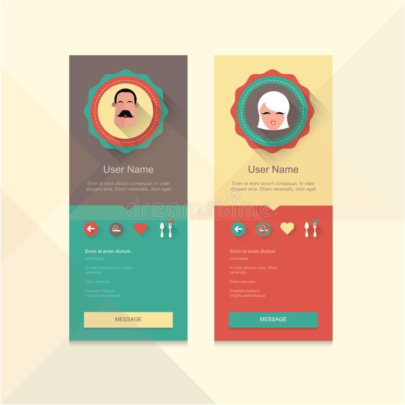 Insigne de profil illustration libre de droits