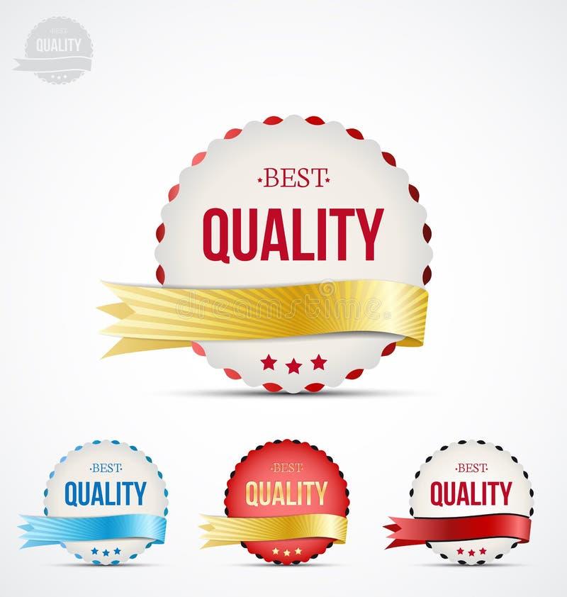 Insigne de qualité illustration stock