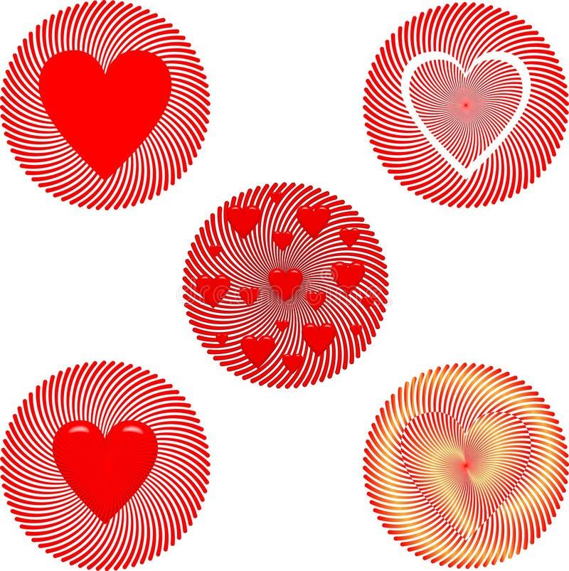 Insigne de Saint-Valentin photos libres de droits