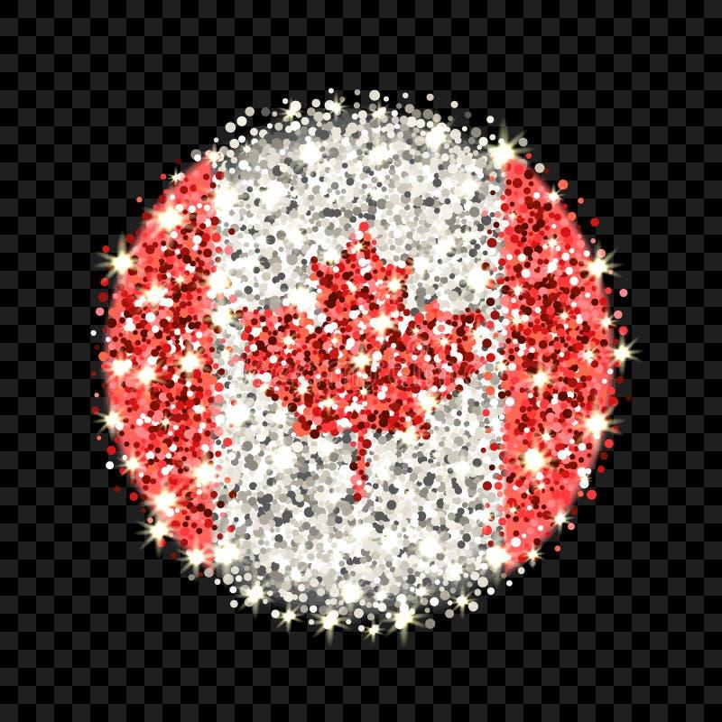 Insigne de scintillement de drapeau de Canada illustration libre de droits