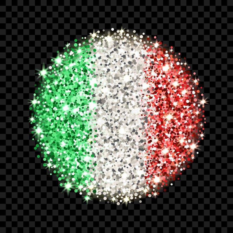 Insigne de scintillement de drapeau de l'Italie illustration de vecteur