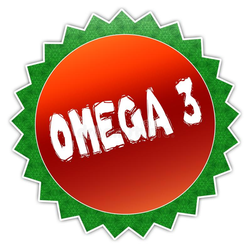 Insigne de tournesol avec le texte d'OMEGA 3 illustration stock
