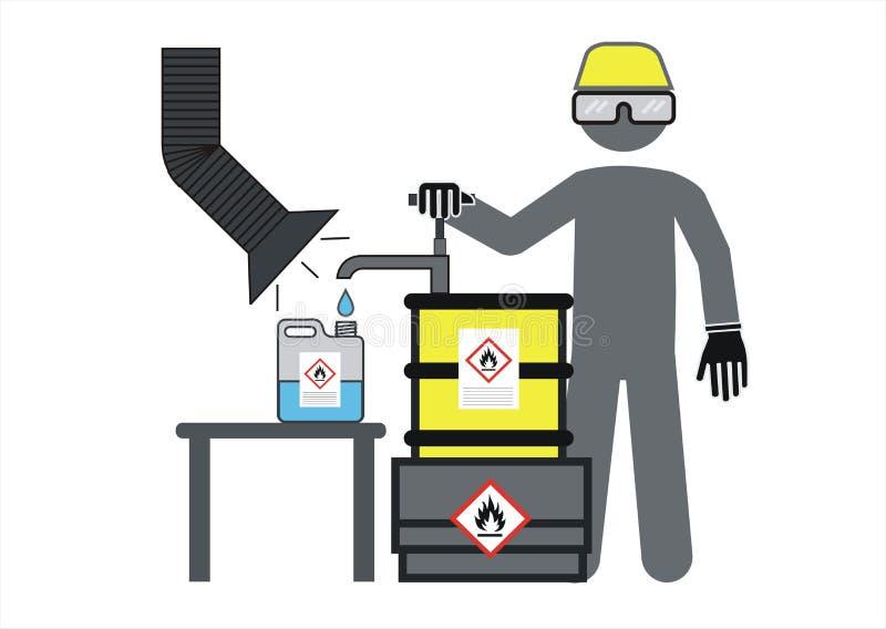 Insigne de travailleur, chimiste illustration stock