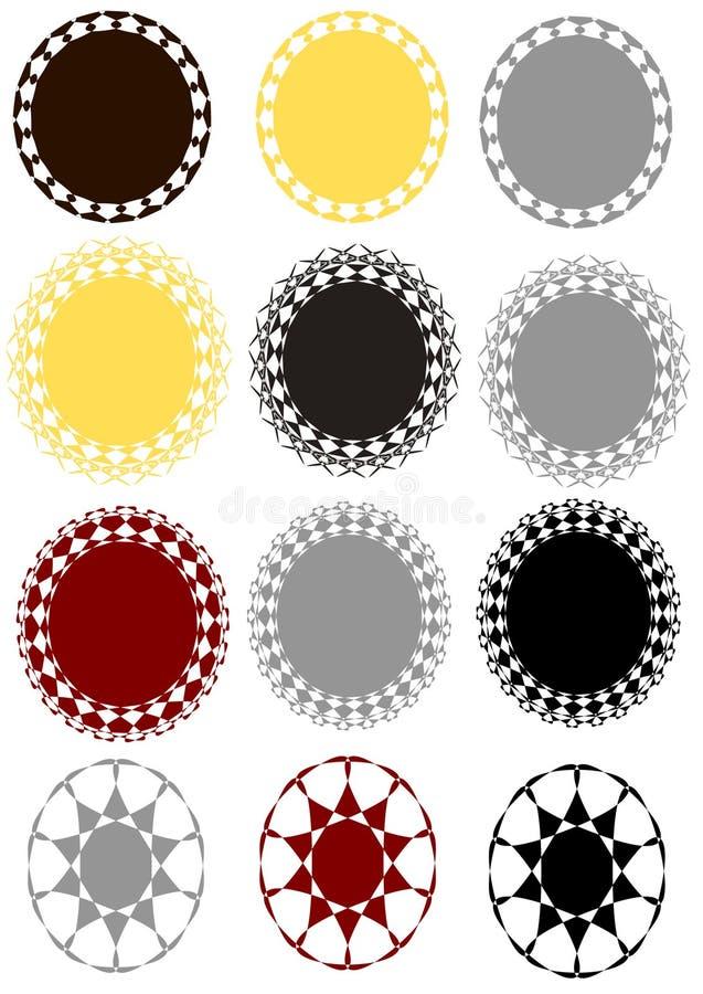 Insigne de vecteur réglé dans la couleur 3 différente illustration libre de droits