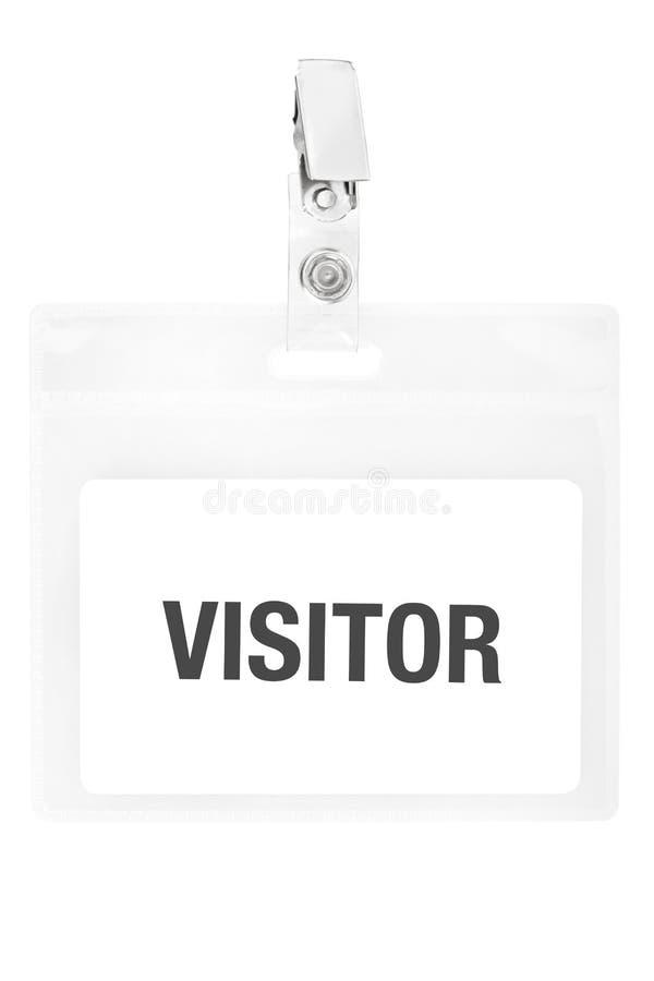 Insigne de visiteur ou passage d'identification image libre de droits