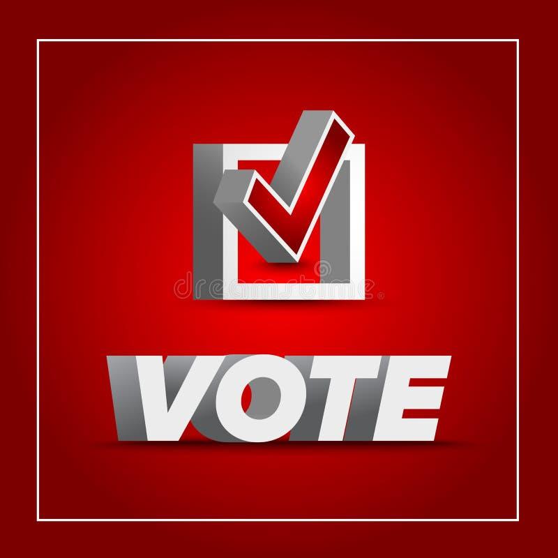 Insigne de vote pour l'élection illustration de vecteur