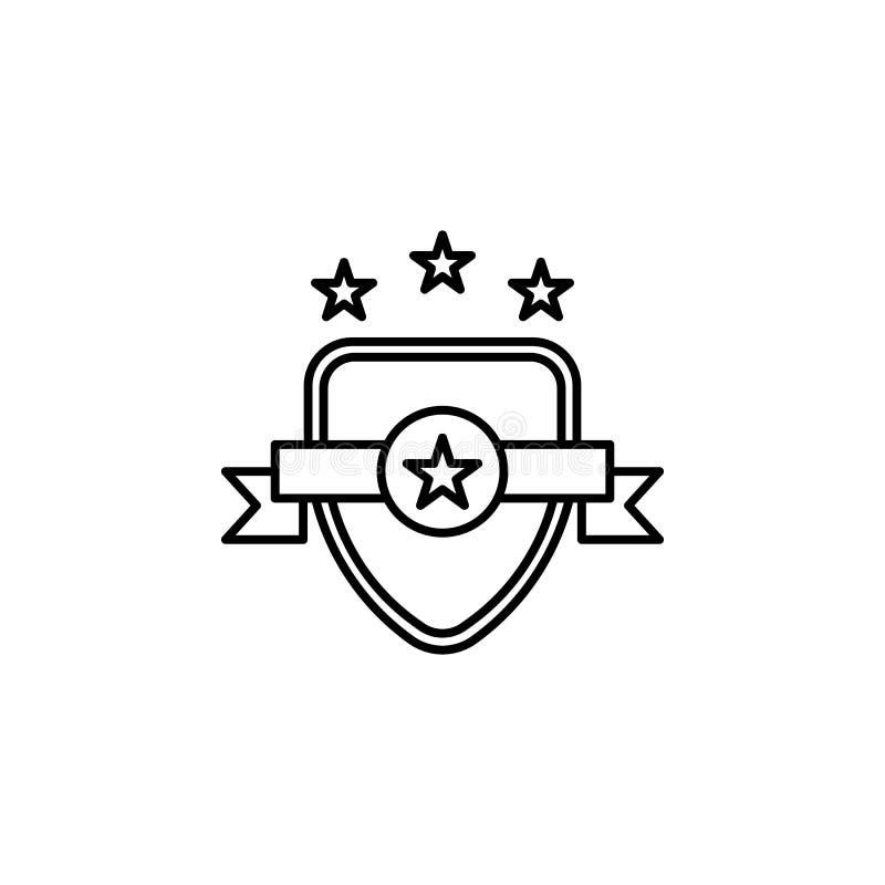 Insigne, emblème, icône de loi Élément d'icône de loi et de justice Ligne mince icône pour la conception de site Web et le dévelo illustration de vecteur