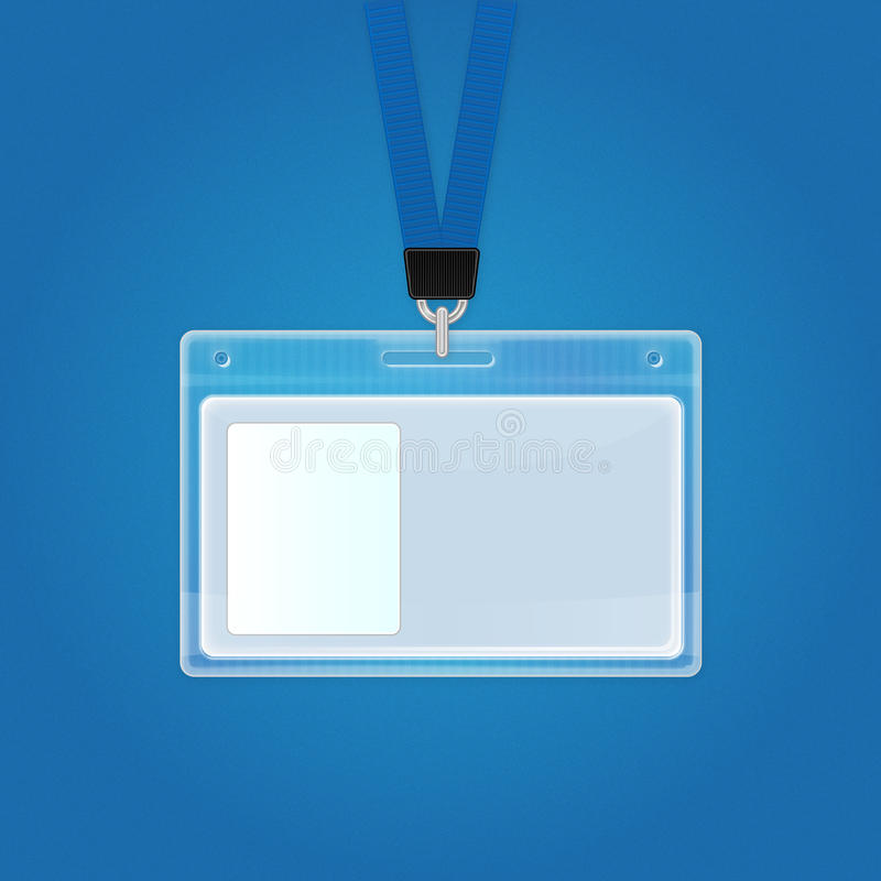 Insigne en plastique d'identification. Graphisme de carte d'identité. illustration de vecteur