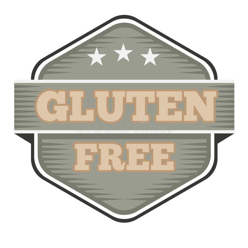 Insigne, logo ou icône libre de gluten de cru Illustration de vecteur illustration libre de droits