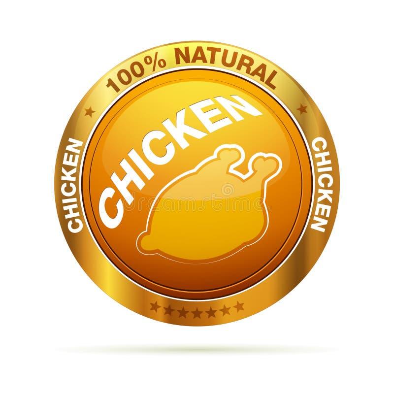 insigne normal de poulet de 100 pour cent illustration de vecteur