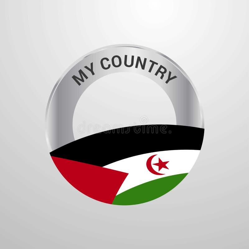 Insigne occidental de Sahara My Country Flag illustration stock