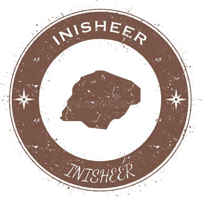 Insigne patriotique circulaire d'Inisheer illustration stock