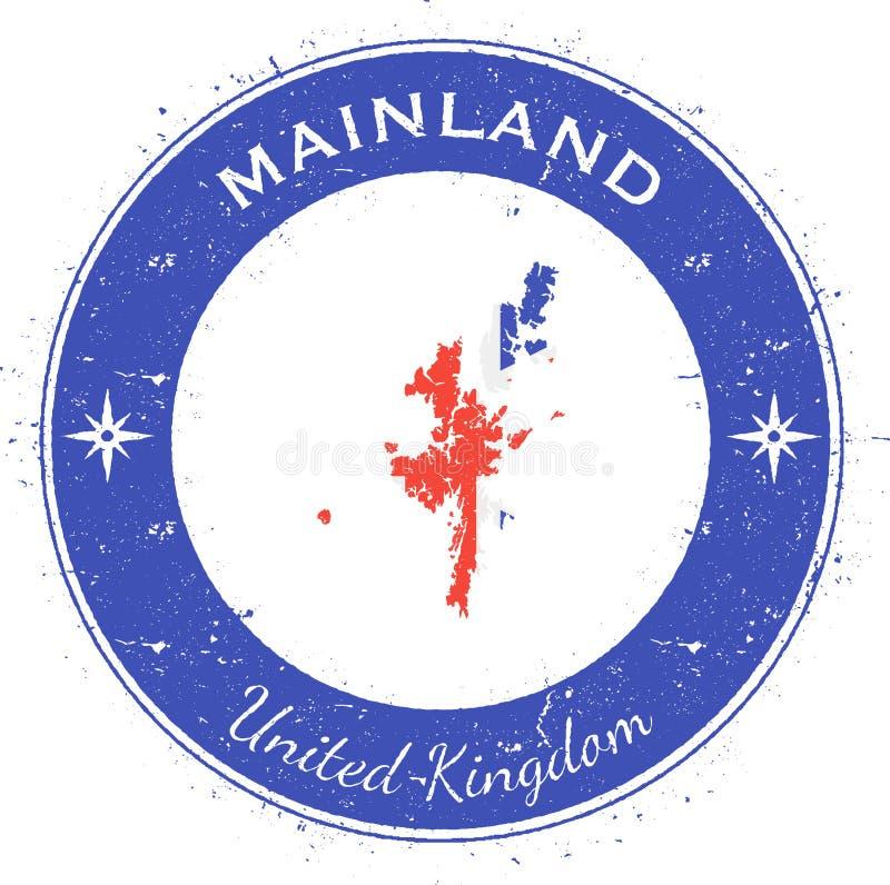 Insigne patriotique circulaire de continent illustration stock