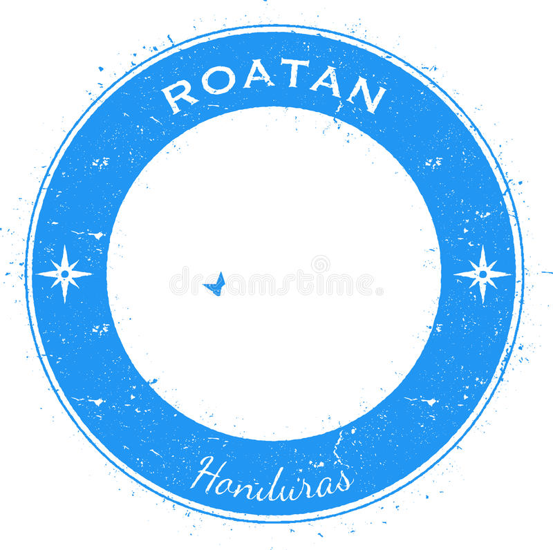 Insigne patriotique circulaire de Roatan illustration de vecteur