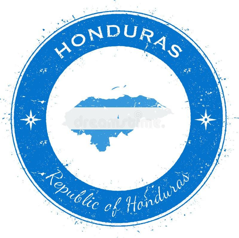 Insigne patriotique circulaire du Honduras illustration libre de droits