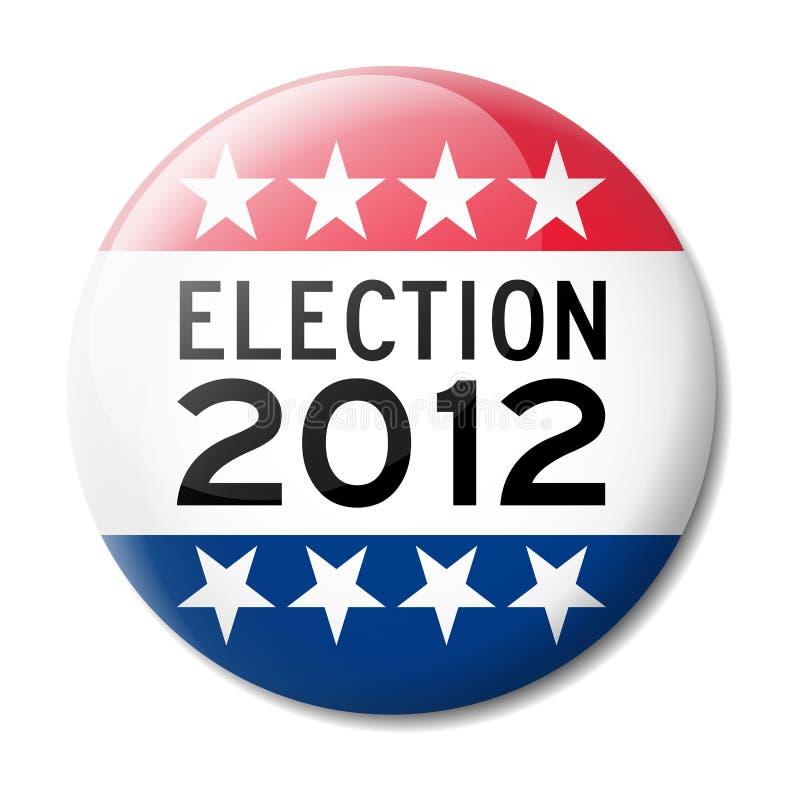 Insigne pour l'élection américaine 2012 illustration de vecteur