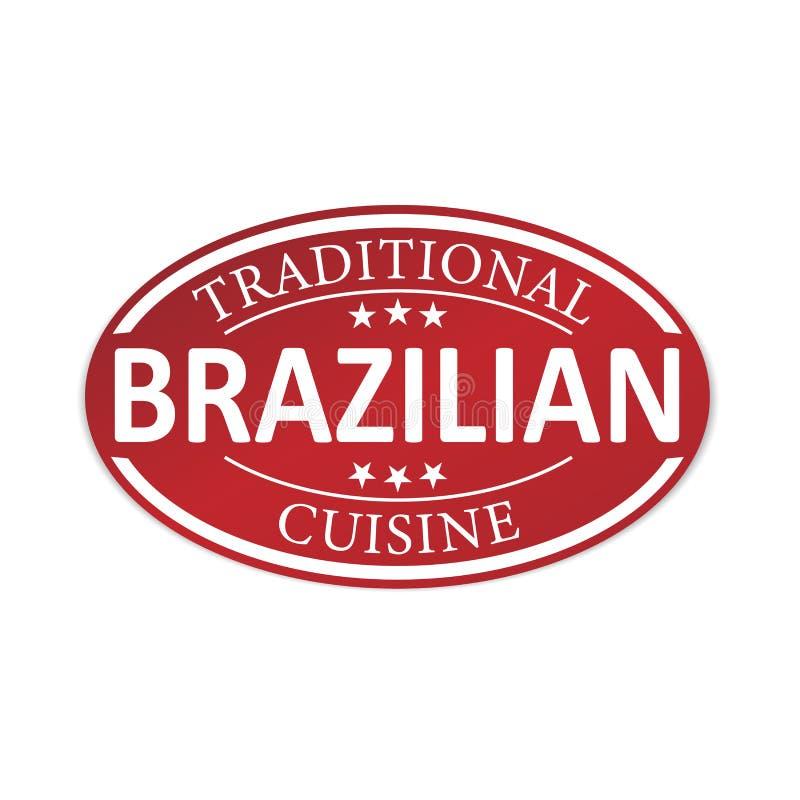 Insigne rouge de Web de papier de cuisine brésilienne traditionnelle illustration libre de droits
