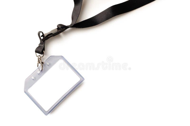Insigne vide de carte d'identification avec la ceinture noire images libres de droits